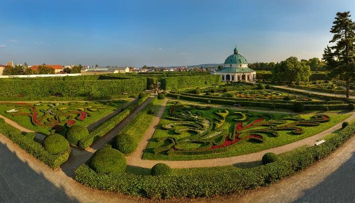 クロムニェジーシュ大司教宮殿の庭園/画像提供:チェコ政府観光局