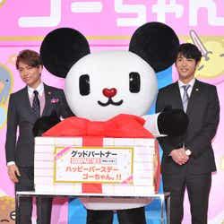 (左から)山崎育三郎、ゴーちゃん。、賀来賢人(C)モデルプレス
