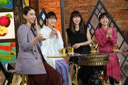 (左から)滝沢カレン、西野七瀬、長谷川京子、田中みな実 (写真提供:カンテレ)