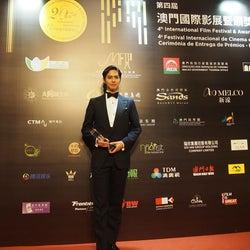 GENERATIONS片寄涼太「マカオ国際映画祭」出席 流暢な英語でスピーチ