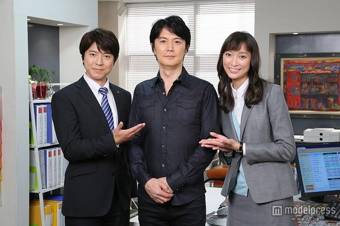 『花咲舞が黙ってない』主題歌決定/写真左から:上川隆也、福山雅治、杏(C)日本テレビ【モデルプレス】