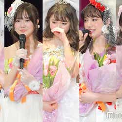 (左から)青島妃菜、小林恵月、香音、清原果耶、中野あいみ(C)モデルプレス