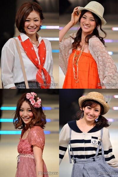 (左上から)西田有沙、岩本乃蒼(左下から)上間美緒、大島なぎさ