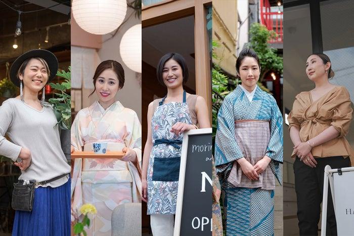 (左から)橋本藍さん、安原伶香さん、米山直子さん、小田嶋舞さん、白木夏子さん