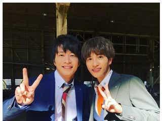 志尊淳「おっさんずラブ」田中圭と仲良し2ショット「楽しみにしててだお」再共演にファン歓喜