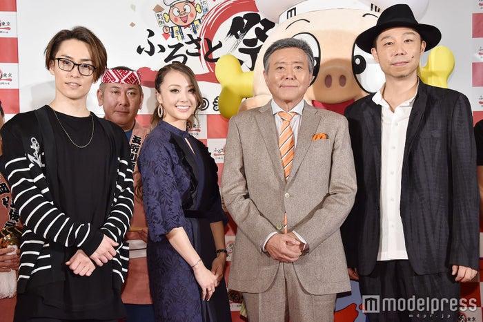 EXILE TETSUYA、Dream Shizuka、小倉智昭、EXILE USA (C)モデルプレス
