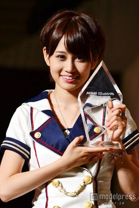 「AKB48 22ndシングル選抜総選挙今年もガチです」で1位に輝いた前田敦子