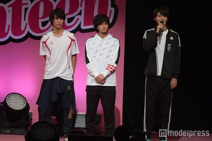 優男男子チーム(左から)中川大志、DISH//TAKUMI、山本涼介(C)モデルプレス