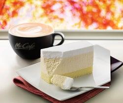 マックカフェ、「レアチーズケーキ」と「ティラミス」が新レギュラー化 口あたりクリーミーなラテも登場