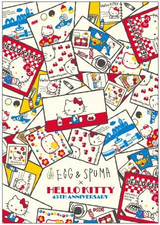EGG&SPUMA×HELLO KITTY 45TH ANNIVERSARY CAFE(C)1976, 1999,2019 SANRIO CO., LTD. APPROVAL NO. G593641