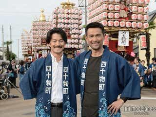 竹野内豊、江口洋介は「頼れる兄貴」 初共演で2ショット公開