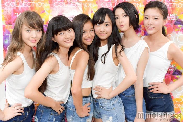 モデルプレスのインタビューに応じた「TGA16」モデル部門受賞者/左から:木村ユリヤさん、草野星華さん、ハーヴィー瑛美さん、駒野遥香さん、西川伶那さん、王子咲希さん(C)モデルプレス