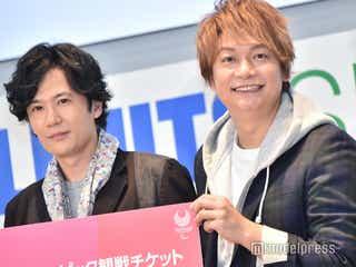 稲垣吾郎&香取慎吾、パラスポーツ生体感で興奮「心で、体で感じて」