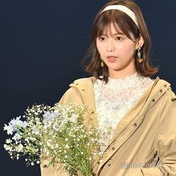 欅坂46渡邉理佐、外ハネヘア&花柄ワンピで春感<TGC2020 S/S>