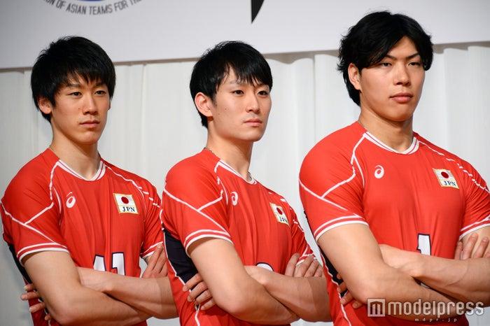 (左から)石川祐希選手、柳田将洋選手、清水邦広選手(C)モデルプレス