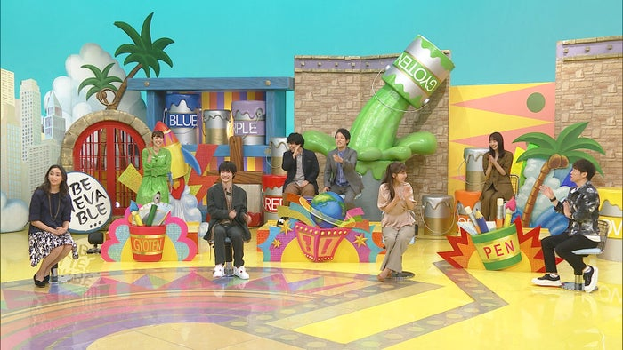 (前列左から)杏、神木隆之介、宇野実彩子、陣内智則(後列左から)若槻千夏、宮下草薙、NANAMI(C)日本テレビ