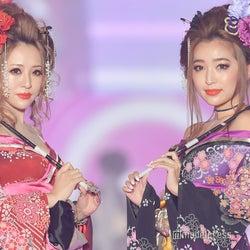 桜井莉菜&杉山佳那恵、SEXY花魁姿でド派手ランウェイ<関コレ2019A/W>