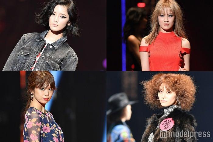 左上から時計回り:藤井萩花、藤井夏恋、楓、佐藤晴美(C)モデルプレス