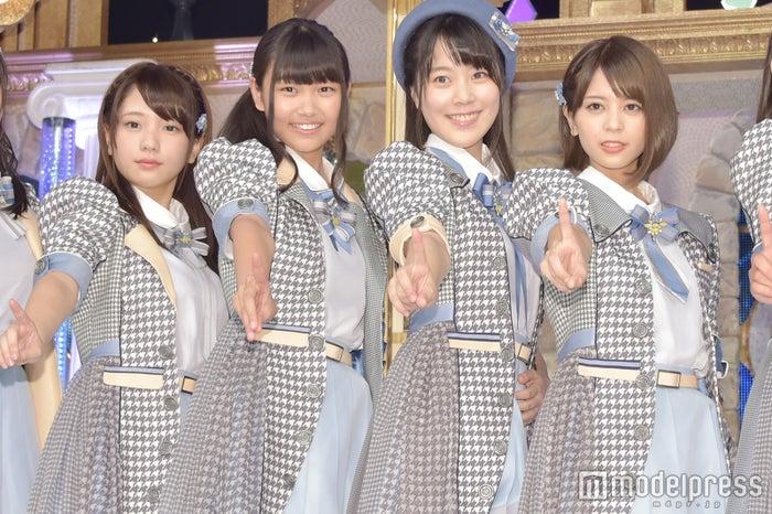 「ラストアイドル」候補の長月翠 、小澤愛実、間島和奏、吉崎綾 (C)モデルプレス