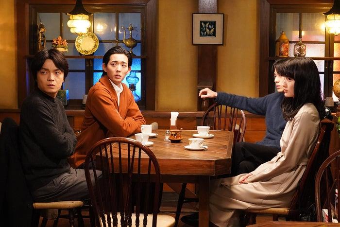 (左から)岡山天音、竜星涼、新田真剣佑、橋本愛(C)日本テレビ