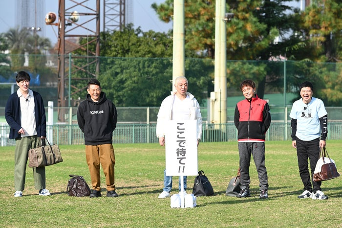 ココリコ、ダウンタウン、月亭方正「絶対に笑ってはいけない大貧民GoToラスベガス24時!」(C)日本テレビ