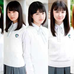 乃木坂46に加入した(左から)黒見明香、佐藤璃果、林瑠奈、尾美佑、弓木奈於(提供画像)