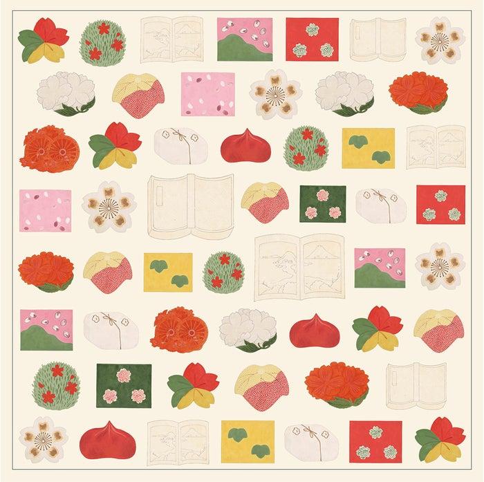 特製掛紙と特製風呂敷には、 大正時代に描かれた菓子絵図をデザイン/画像提供:TSUTAYA