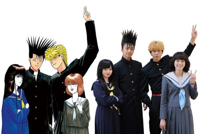 (左から)橋本環奈、伊藤健太郎、賀来賢人、清野菜名(画像提供:日本テレビ)