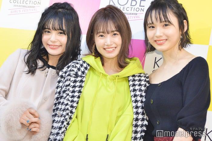 村川緋杏、朝長美桜、荒巻美咲 (C)モデルプレス