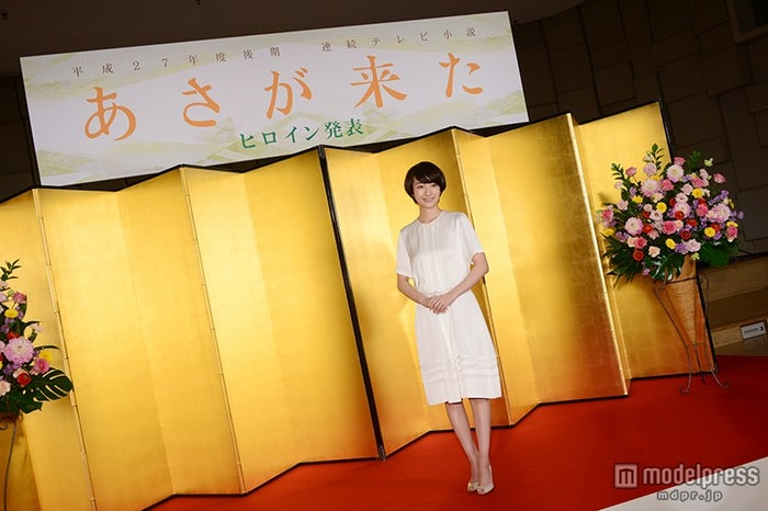 平成27年度後期連続テレビ小説「あさが来た」ヒロイン発表会見にて