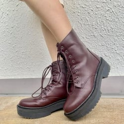 """またGUでスゴいものを発見してしまった…3990円の""""厚底ブーツ""""が可愛い上に着まわしバツグンなの!"""