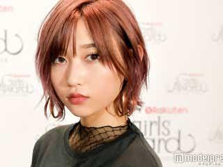 欅坂46志田愛佳のカッコ良すぎた赤髪&ウインク、注目のメイク&ファッションも<モデルプレスインタビュー>