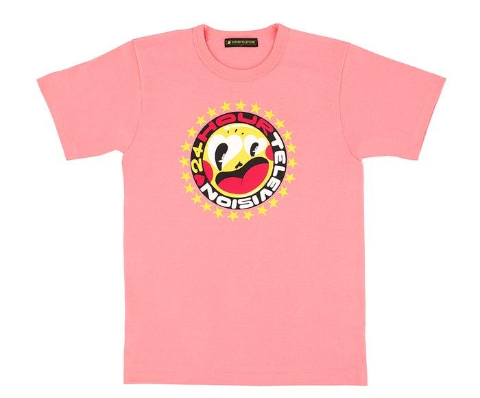 新しく発表されたデザイン「24時間テレビ41」チャリTシャツ:ピンク(C)日本テレビ