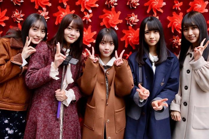 (左から)遠藤さくら、田村保乃、森田ひかる、上村ひなの、賀喜遥香(C)NHK