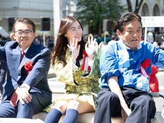SKE48松井珠理奈、名古屋でパレード 総選挙1位の公約実現