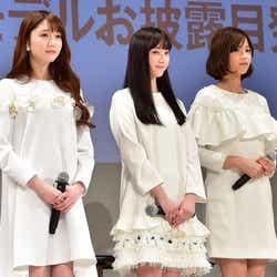 松川菜々花、山田愛奈、渡邉理佐(C)モデルプレス