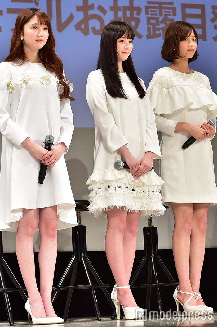 『non‐no』専属モデルに加入した松川菜々花、山田愛奈、渡邉理佐 (C)モデルプレス