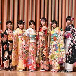 AKB48(左から)蒲地志奈、大竹ひとみ、春本ゆき、市川愛美、大盛真歩、多田京加、岡田梨奈、吉橋柚花 (C)モデルプレス