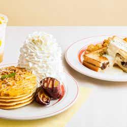 濃厚スイートポテトパンケーキ、4種キノコのグラタンサンド/画像提供:Eggs'n Things Japan