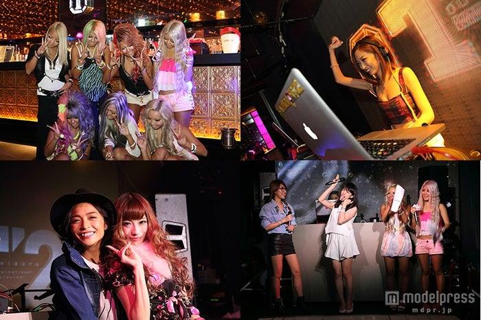 「GAL CON」イベントに集結した、強め黒ギャル集団Black Diamond、DJSHIMA☆YURI、あやまんJAPAN、モデル里見茜、華沢友里奈(左上から時計回りに)【モデルプレス】
