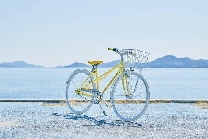 非電動タイプの「SHIMANAMI LEMON BIKE」。レモンの中綿をイメージしてオフホワイトのタイヤにするなど、こだわりが満載(提供画像)