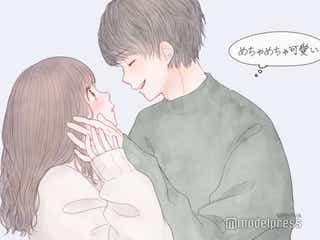 男性が「めちゃめちゃ可愛い」と思うキス後の反応5つ 破壊力やばい!/(C)モデルプレス/イラスト:胡月