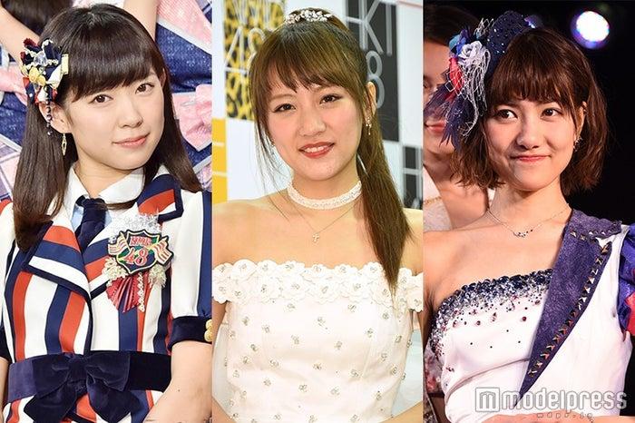 卒業ラッシュのAKB48グループ/(左から)渡辺美優紀、高橋みなみ、宮澤佐江(C)モデルプレス