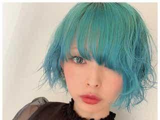 最上もが、セルフカラーで青髪に大胆イメチェン「二次元」「美しすぎる」と絶賛の声