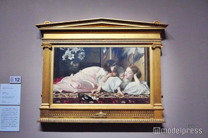 フレデリック・レイトン《母と子(サクランボ)》1864-65年、油彩、カンヴァス ブラックバーン美術館(C)モデルプレス