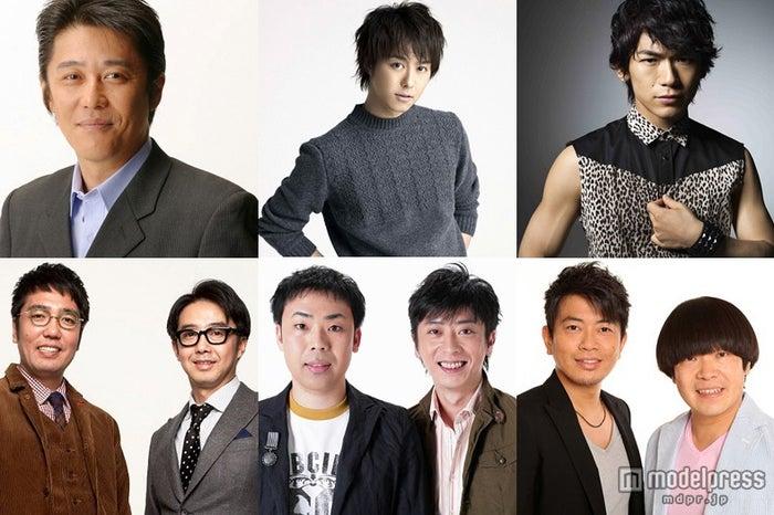 「笑っていいとも!」後番組にて日替わりでMCを担当する5組(左上から時計回り)坂上忍、TAKAHIRO&NAOTO、雨上がり決死隊、フットボールアワー、おぎやはぎ