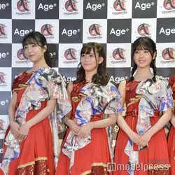 (左から)早川聖来、掛橋沙耶香、筒井あやめ (C)モデルプレス