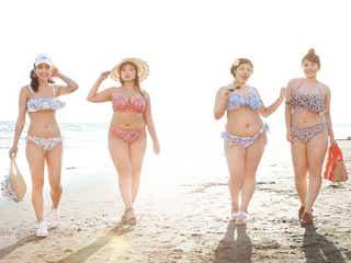 ぽっちゃりモデル、ビキニ姿でワガママボディ解放 最旬水着を着こなす