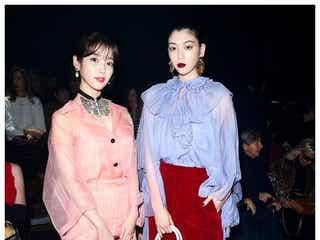 三吉彩花&IU、日韓美女2ショットに反響「女神が2人」「素敵すぎ」
