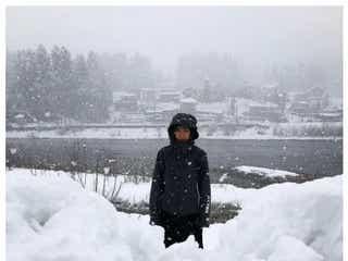 おばたのお兄さん「妻が実家に」山崎夕貴アナの写真に「大雪中継みたい」と反響
